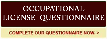 Occupational Licenses Dallas Occupational License Attorney
